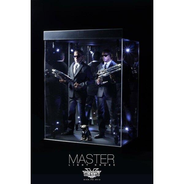 Master Light House Display Acrílico con Iluminación para Figuras 1/6 (negro)