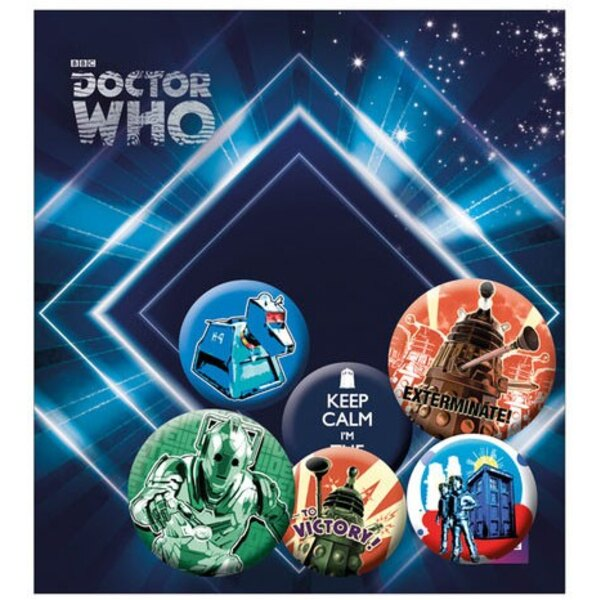 Doctor Who Pack 6 Chapas Retro