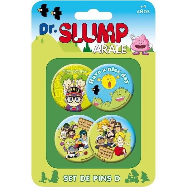Dr. Slump Pack 4 Chapas Set D