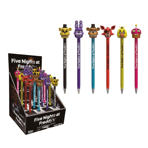 Five Nights at Freddy's POP! Homewares Bolígrafos con Toppers Exspositor (16)