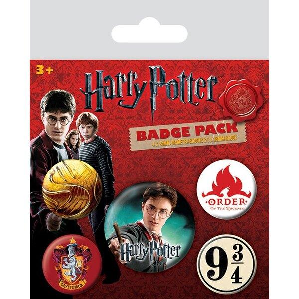 Harry Potter Pack 5 Chapas Gryffindor