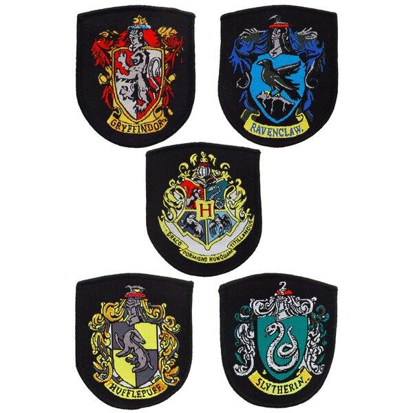Harry Potter Pack de 5 Parches Escudos de las Casas