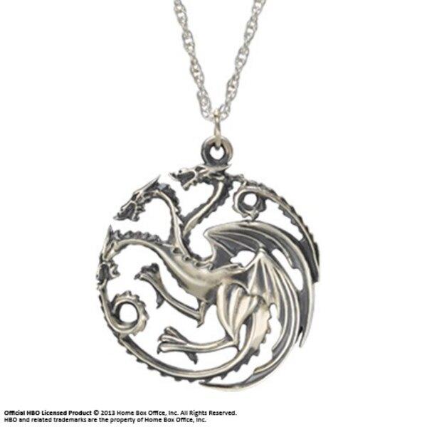 Juego de Tronos Collar con Colgante Targaryen (Plata)