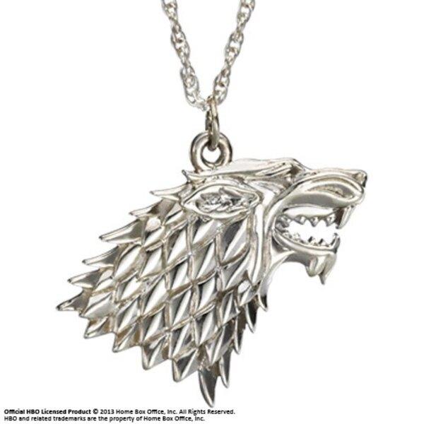 Juego de Tronos Collar con Colgante Stark (Plata)