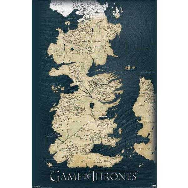 Juego de tronos Set de 5 Pósteres Map 61 x 91 cm