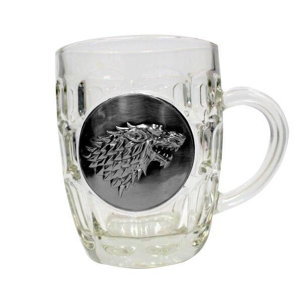 Juego de Tronos Jarra de cerveza Stark Metallic Logo