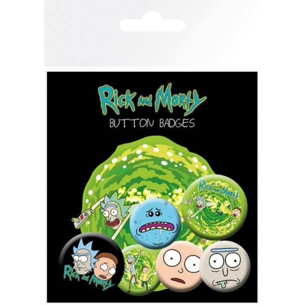 Rick y Morty Pack 6 Chapas Characters