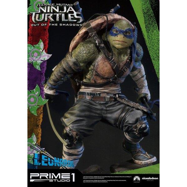 Tortugas Ninja Fuera de las Sombras Estatua 1/4 Leonardo 61 cm