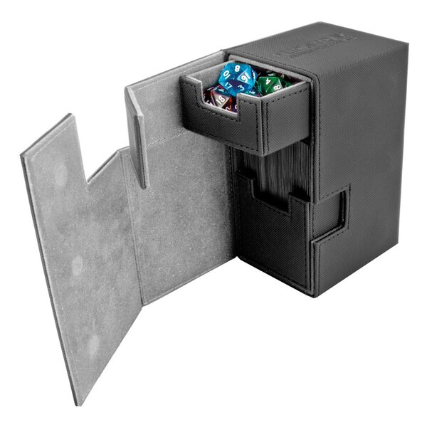 Ultimate Guard Flip´n´Tray Deck Case 80+ Caja de Cartas Tamaño Estándar XenoSkin Negro