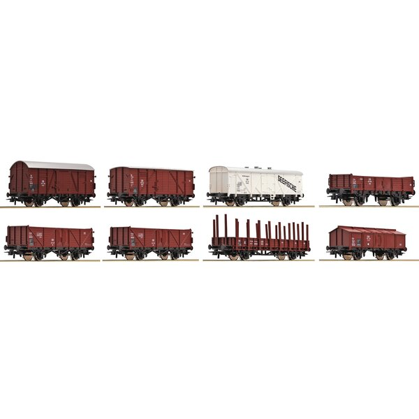 8-piece set freight cars, DB