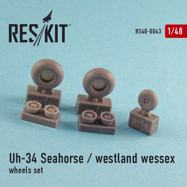 Sikorsky UH-34 Seahorse / Westland Wessex (todas las versiones) ruedas orientadas (1/48) (designet a utilizar con Revell, Galerí
