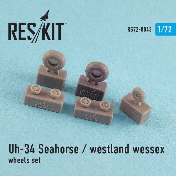 Sikorsky UH-34 Seahorse / Westland Wessex (todas las versiones) ruedas establecido (diseñado para ser utilizado con kits Hobby B