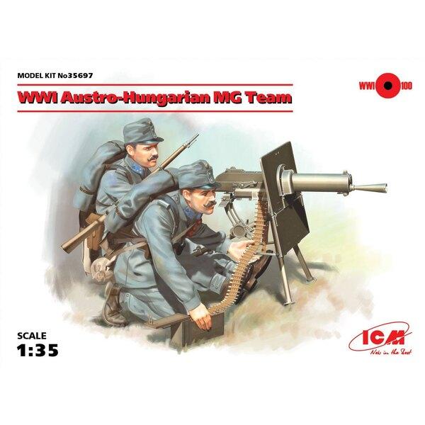 WWI Equipo Austro-Húngaro MG (2 figuras) (100% nuevos moldes) El conjunto incluye dos figuras de ametralladoras austro-húngaras