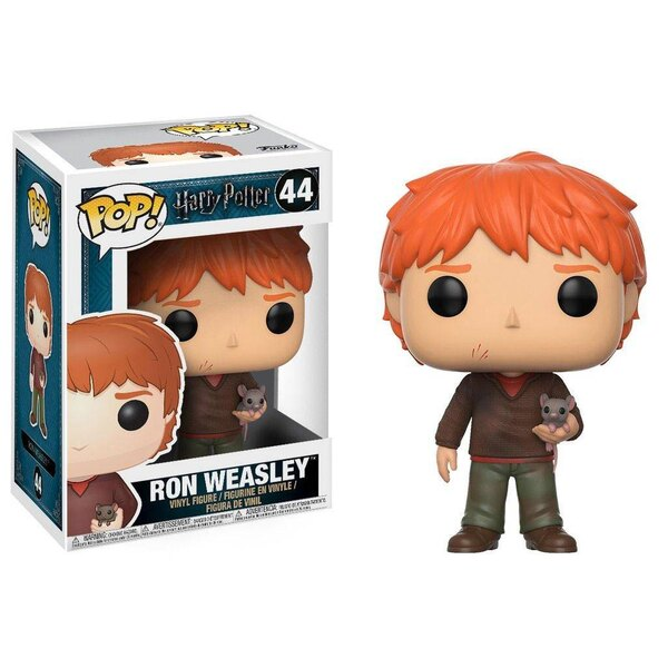 Harry Potter POP! Movies Vinyl Figura Ron Weasley with Scabbers 9 cm