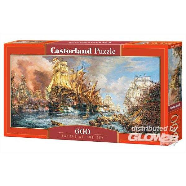 Puzzle Batalla en el mar, rompecabezas 600 piezas