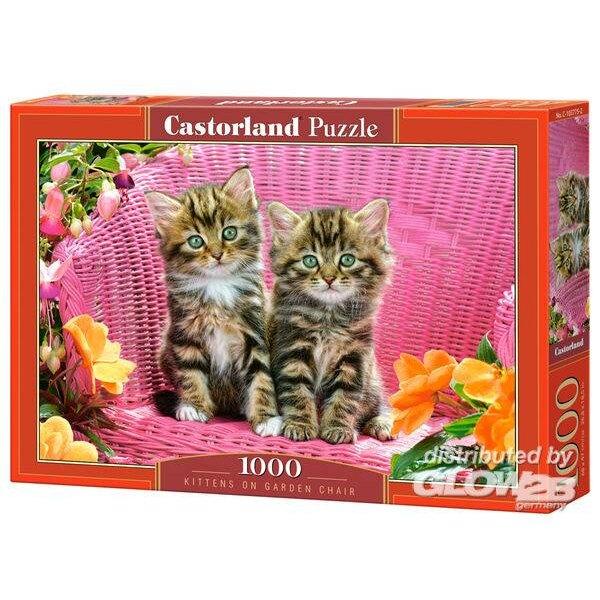 Puzzle Gatitos en silla de jardín, Puzzle 1000 parte