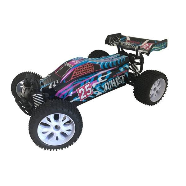 COCHE RUNNER AZUL 1/10 4x4 BRUSHED RTR