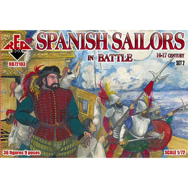 Marineros españoles en batalla 16-17 siglo