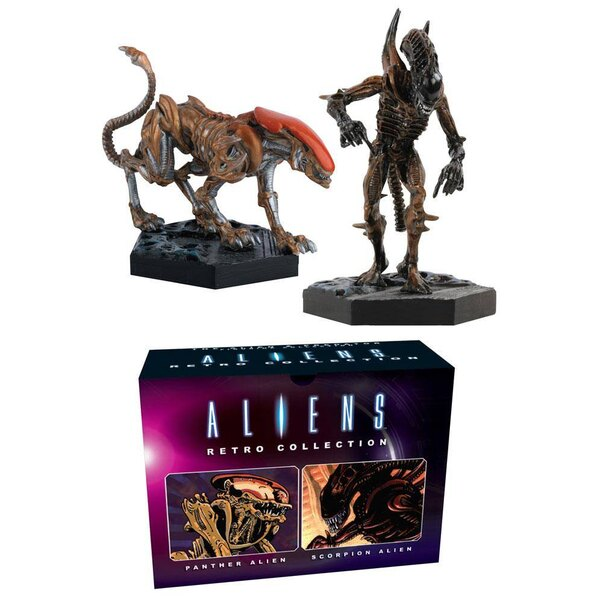 Aliens Retro Collection Pack de 2 Figuras Panther & Scorpion Alien 13 cm