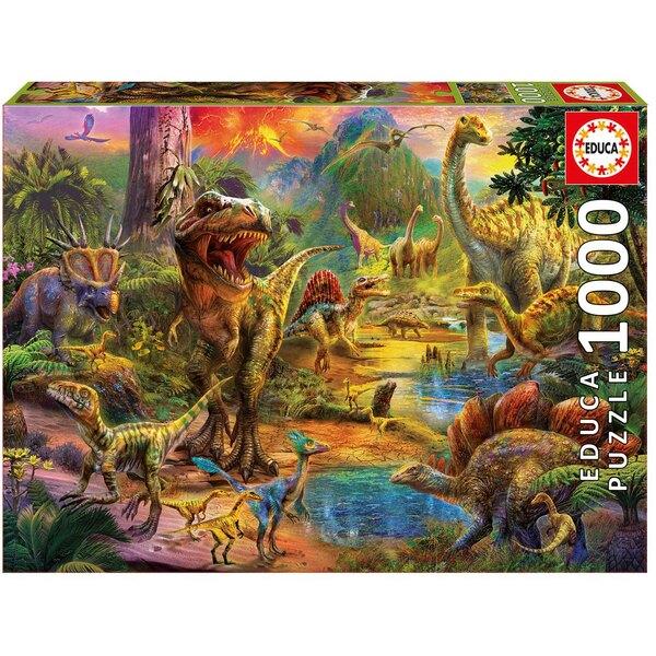 Puzzle Terre los dinosaurios