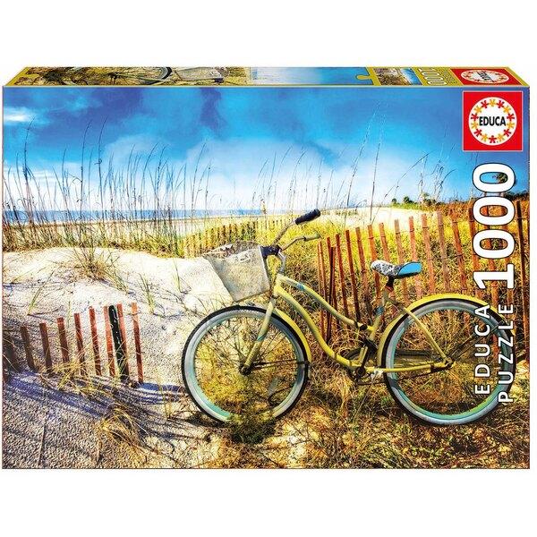 Puzzle Bicyclette dance les dunes