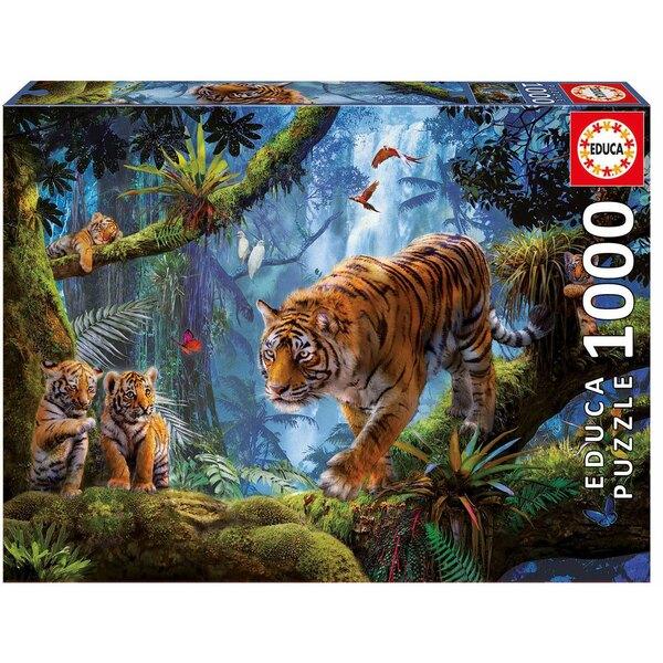 Puzzle Tigres sur l'arbre