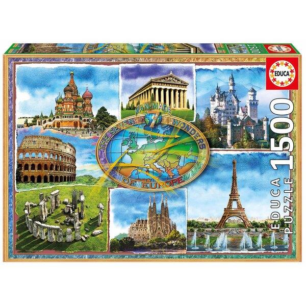 Puzzle Sept merveilles d'europe