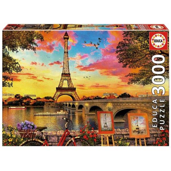 Puzzle Coucher de soleil a Paris