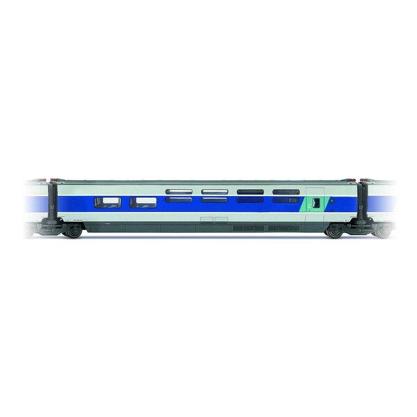Coche intermedio TGV South-East Bar Entregado Azul y gris metal