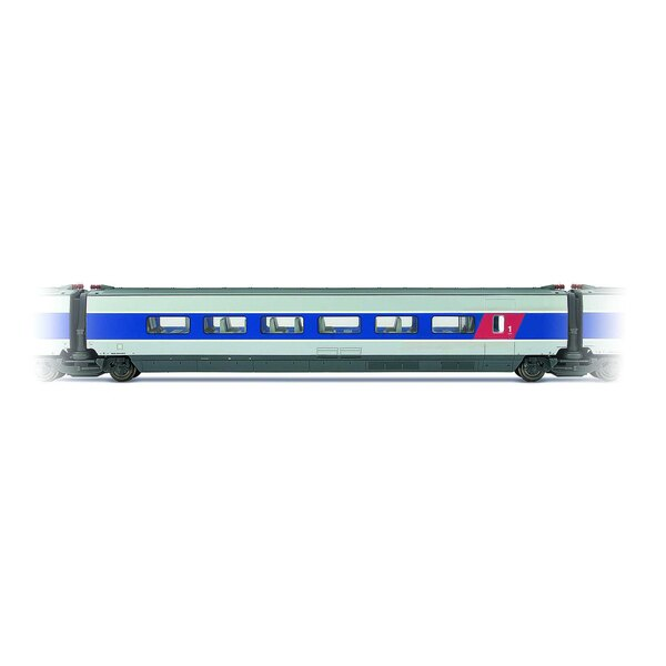 Entrenador intermedio TGV Sureste 1ra clase Entregado azul y gris metal