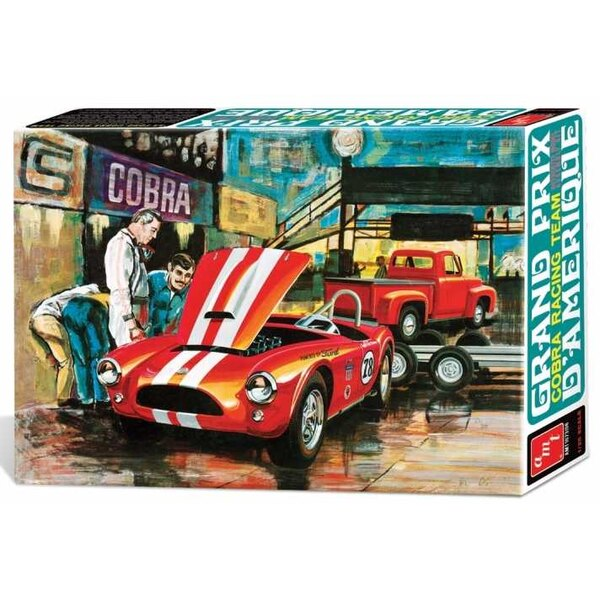 Cobra Racing Team Shelby Cobra & '53 Ford Pickup & Trailer. AMT is reintroducing a series of vintage racing teams coveted by mod