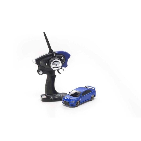 Mini-z ma020 sports 4wd mitsu lancer evo-x (kt19) azul