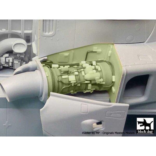 Juego de motor Agusta-Westland Merlin HC.3 N ° 2 (diseñado para ser usado con los kits Airfix)
