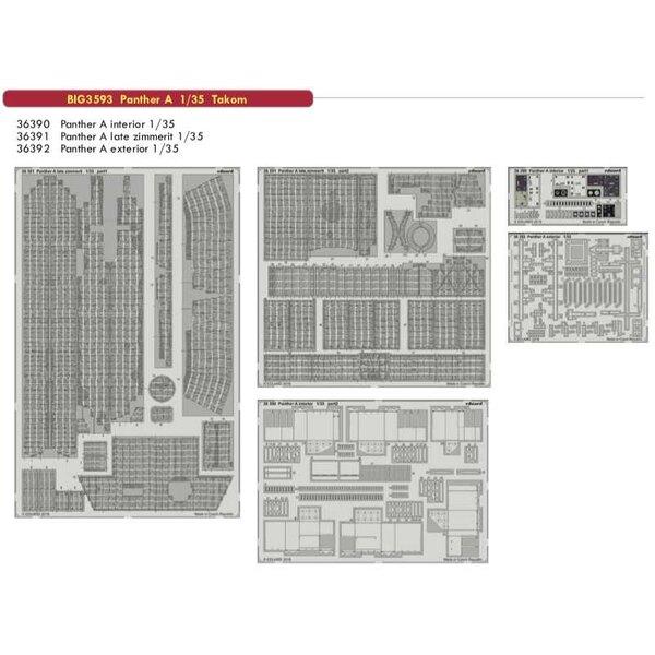 Sd.Kfz.171 / 267 Panther A (diseñado para ser usado con los kits Takom) Este juego BiG-Ed incluye todos estos sets Eduard ... <b