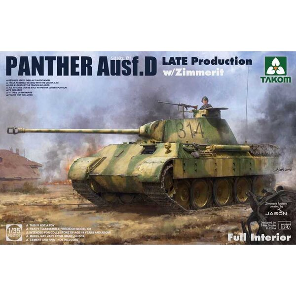 SdKfz 171 Panther Ausf.D Late with Zimmerit & full interior