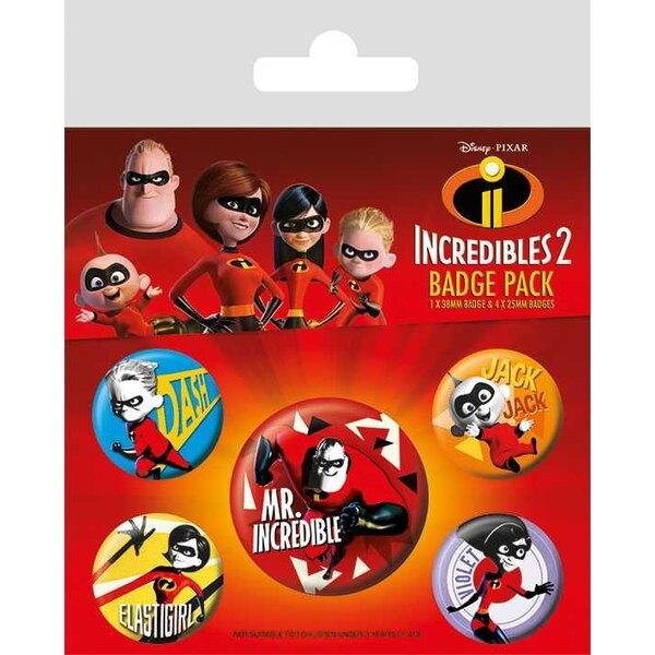Los Increíbles 2 Pack 5 Chapas Family