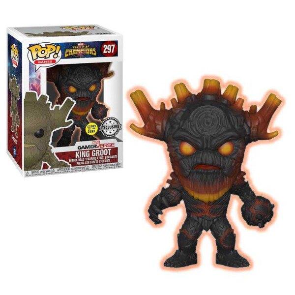 Torneo de campeones de Marvel POP! Figuras de vinilo Rey Groot GITD 9 cm