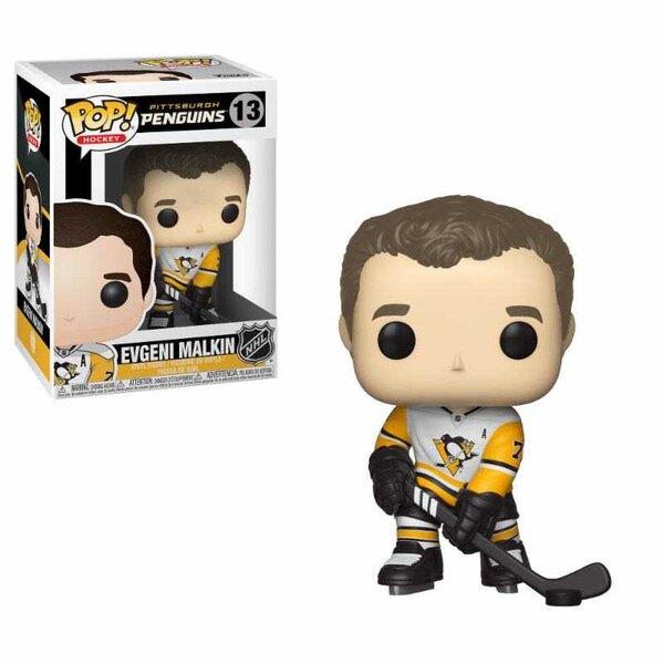 NHL POP!Estatuilla de vinilo para hockey Evgeni Malkin (Pingüinos) 9 cm