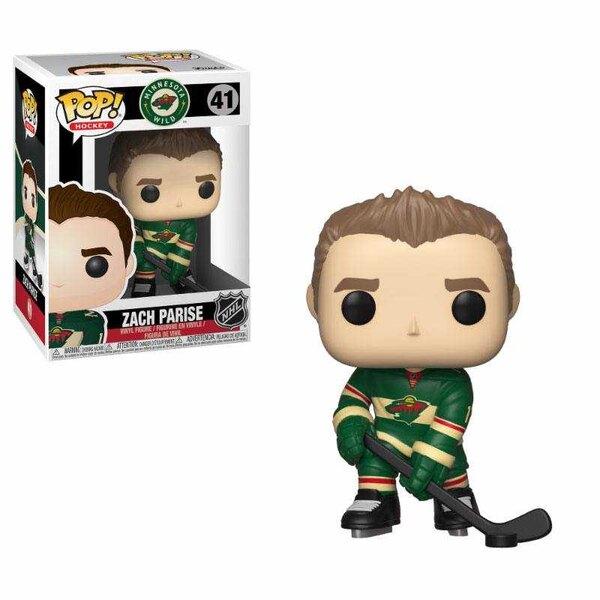 NHL POP!Figurilla de vinilo de hockey Zach Parise (salvaje) 9 cm
