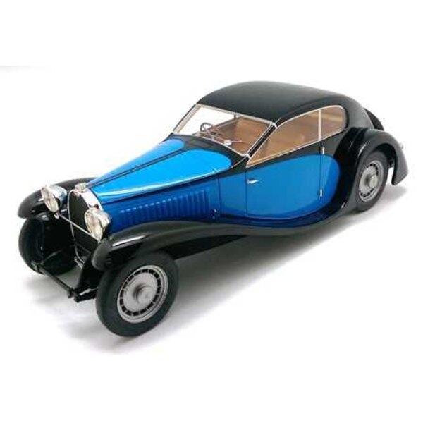 Bugatti Type 46 PERFIL DE 1933 NEGRO / AZUL