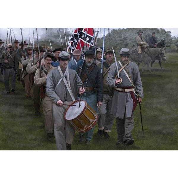 Confederados en la Gettysburg de marzo (ACW / era de la guerra civil americana)