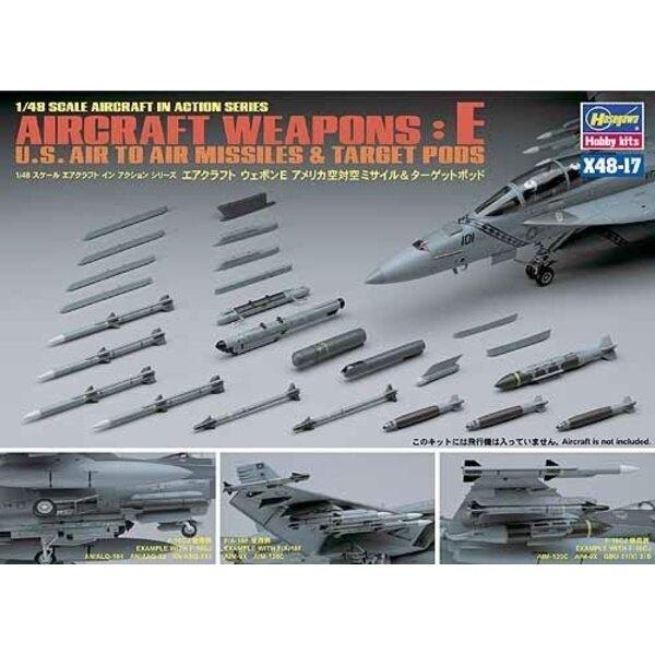 U.S. Aircraft Weapons E. Includes AIM-9X AIM-120C GBU-31(V)3 GBU-38 AN/AAQ-28 AN/AAQ-33 AN/ALQ-184 AN/ALQ-188LAU-115C/A