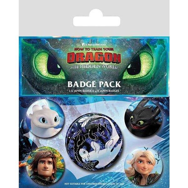 Dragones 3 pack 5 insignias Caras familiares