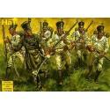 napoleonic austrian infantry 48 figures. with shako.