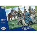 waterloo dutch belgian light cavalry 12 mounted figures with extra shoulder rolls.