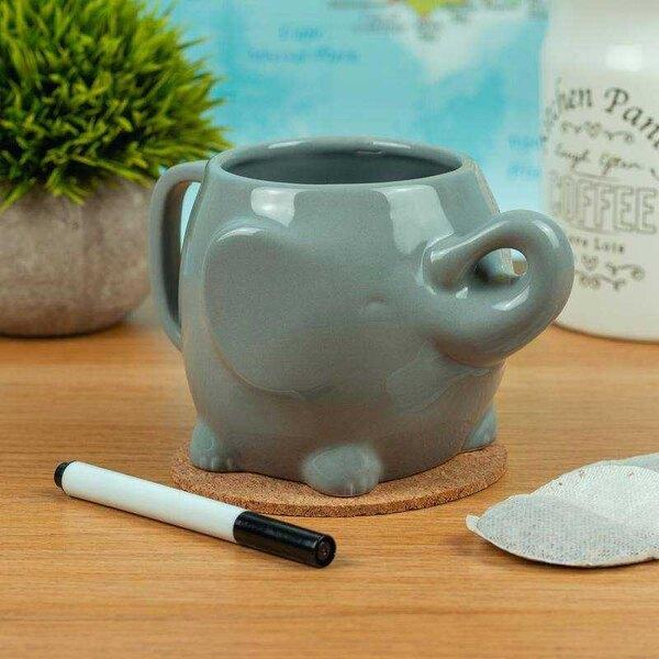 Taza Memo de elefante con marcador de borrado en seco