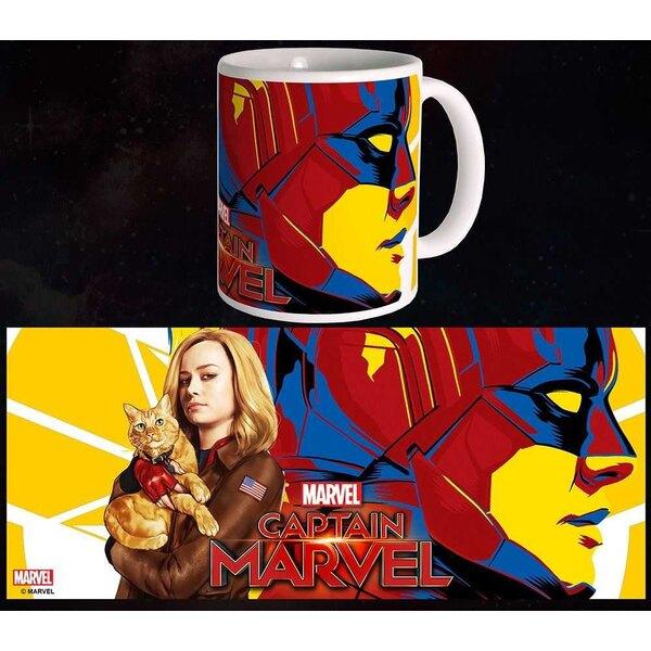 Taza Capitán Marvel Carol & Goose