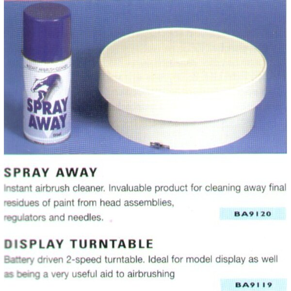 Display Turntable. Battery driven 2 speed turntable. Can be used for displaying or airbrushing. Batteries not included.