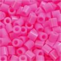 Fuse Beads, medidas 5x5 mm, medida agujero 2,5 mm, rosado (2), mediano, 1100ud Nabbi CCH-751020