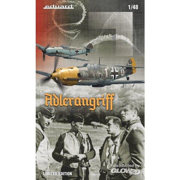 ADLERANGRIFF Messerschmitt Bf 109E,(Dual Combo) Edición limitada en 1:48